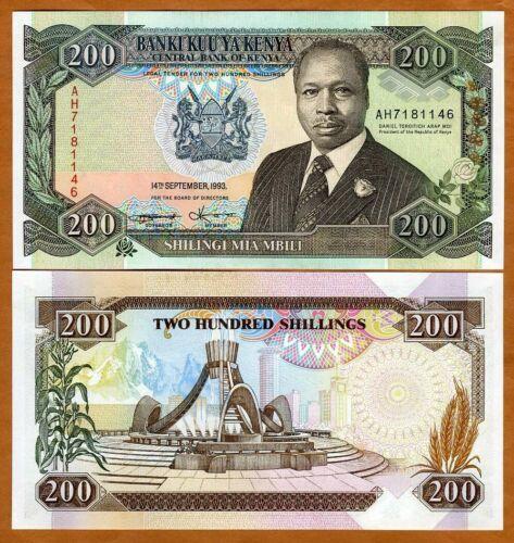 Kenya, 200 shillings, 14-9-1993, P-29e UNC