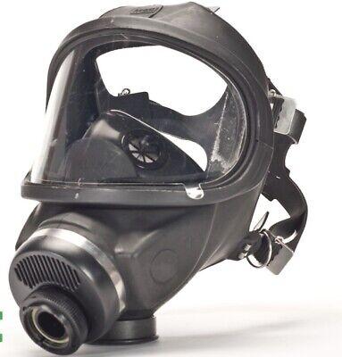 Msa Ultravue Single Port Full Face Gas Mask Air Purifying Respirator Med 457126