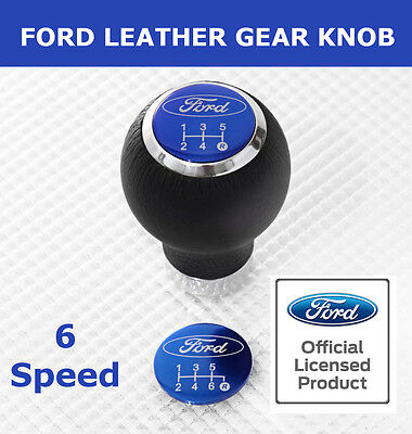 New Official Ford Licensed Leather Gear Knob by Richbrook Fits All Lift Gearbox