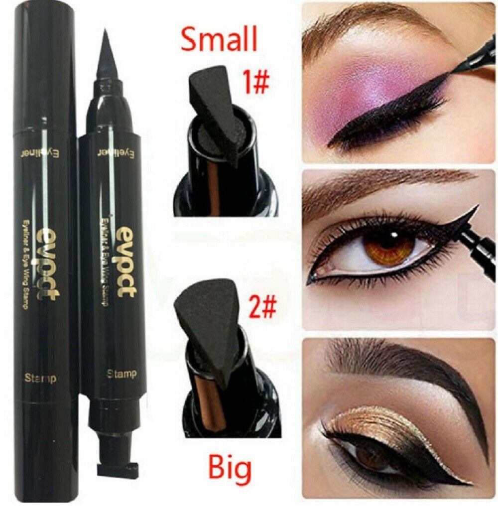 Winged Eyeliner Stamp Waterproof Long Lasting Liquid Eyeliner Pen Eye Makeup Kit Eyeliner