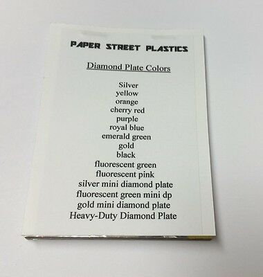 Diamond Plate Sign Vinyl Sample Pack 13 Small Sheets 3 X 4 Inch