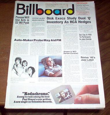 Billboard Magazine 1973 Led Zeppelin #1 Album Michael Jackson Diana Ross Ads