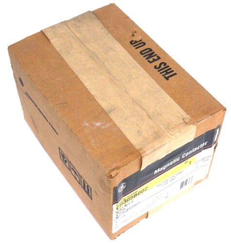 NIB GENERAL ELECTRIC CR305B002 MAGNETIC CONTACTOR 110/115-120V, 50/60HZ, 3 POLE