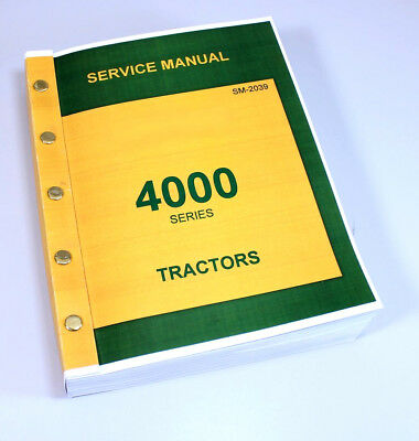 Technical Service Manual John Deere 4000 4010 4020 Tractor Sm-2039 Repair Shop