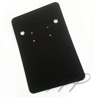 50pc Blank Black Necklace Earrings Paper Display Card For Diy Jewelry Packaging
