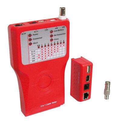 Cat5 Netzwerk Tester (Goobay® Netzwerktester Leitungstester für RJ11/12/45 Cat5/6 ISDN USB Firewire)