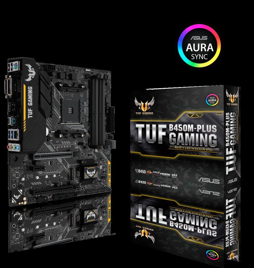 ASUS TUF B450M-Plus Gaming Mainboard Sockel AM4 (µATX, AMD B450, DDR4, PCIe 3.0)