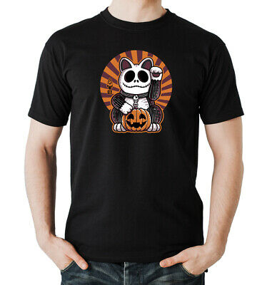 Halloween Cat T-Shirt Boys  Black | jack skeleton, tim burton, Film, ()