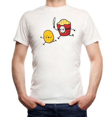 Jason Fries T-Shirt  White | vorhees, freitag der 13, pommes, fast food, - White Fast-food