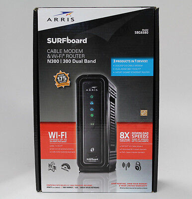 Arris SURFboard N300 Dual Band Cable Modem & WiFi Router, SBG6580