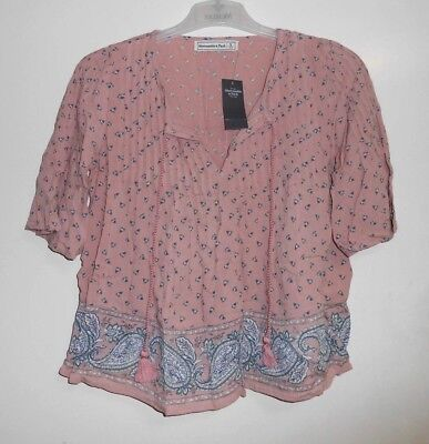 Abercrombie and Fitch Peasant Top Size S LF076 KK 12