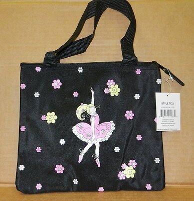 Ballerina Bag (NWT horizon Dance Ballerina flowers square Tote Dance Bag Zipper black)