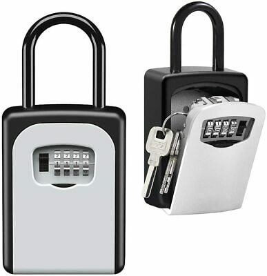 Portable Key Lock Box Safe Home Secure Door Kid Realtor Reset Code Hidden Access