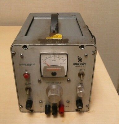 Pd Power Designs Inc. Transistorized Power Supply Model 3240