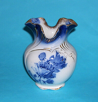 Antique Doulton Gloire-De Dijon Reg No.307815 Vase -  Fully Stamped On The Base.