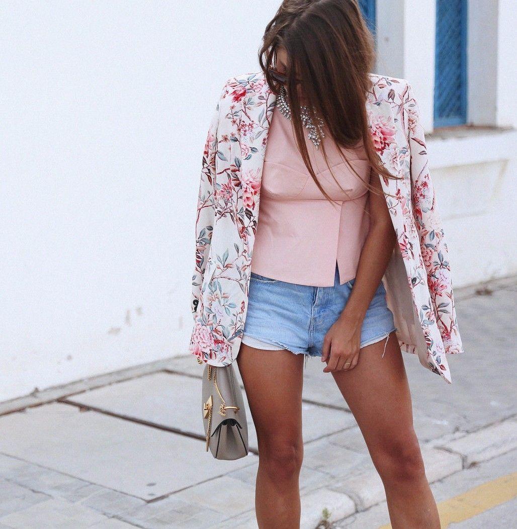 Long Floral Ecru Jacket