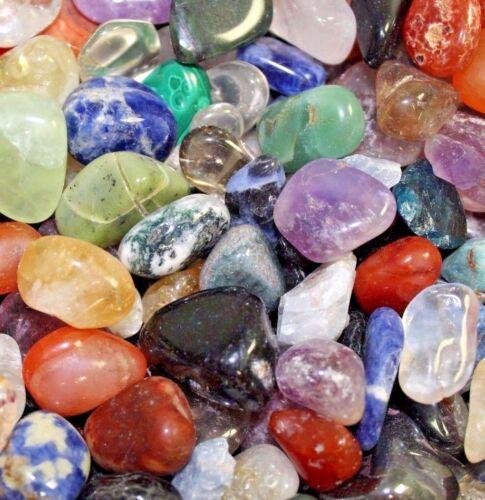 Bulk Lot 1/2 Lb Tumbled Gemstones Crystals Mix Rocks Stones 8 oz