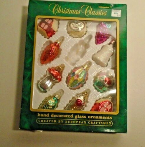 Commodore Christmas Classics Hand Decorated Glass Ornaments Sun Stop Light