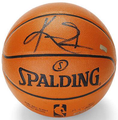 e2fc9e7b16f KYRIE IRVING Autographed (Black) Spalding Basketball Cavaliers PANINI