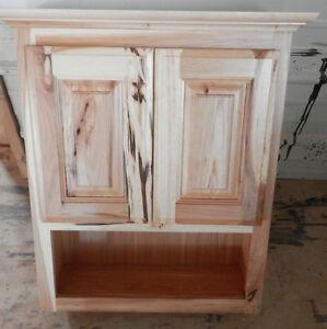 Amish Made Custom Bathroom Wall Cabinet Rustic Hickory