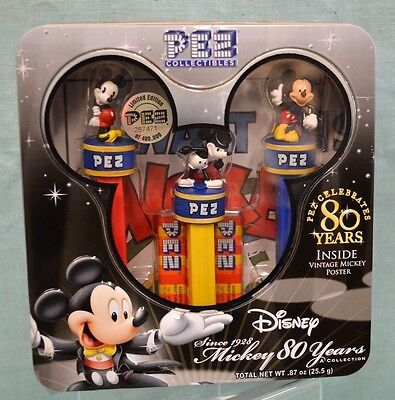 NEW Collector's Disney Mickey MOUSE Celebrates 80 YEARS Tin 2007 COLLECT Vintage