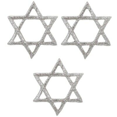 Silver Star of David Applique Patch - Jewish, Hanukkah 1