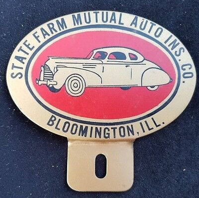 Old Ad Premium License Plate Topper State Farm Mutual Auto Insurance Bloomington