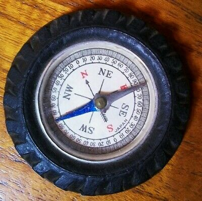 Vintage Compass Rubber Tire Made in Japan Advertising Memorabilia? FREE SHIPPING