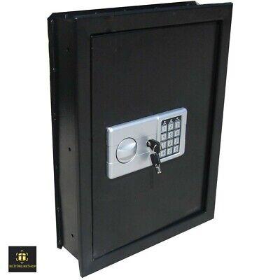 Hidden Wall Gun Safe In Recessed Large Pistol Mount Box Jewelry Cash Digital NEW