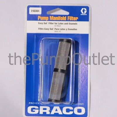 Graco 246384 Easy Out Pump Manifold Filter 60 Mesh For Latex Enamels Oem