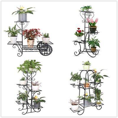 Pflanzenständer Metall Blumen Treppe Regal Podest Bank Leiter für Blumentöpfe
