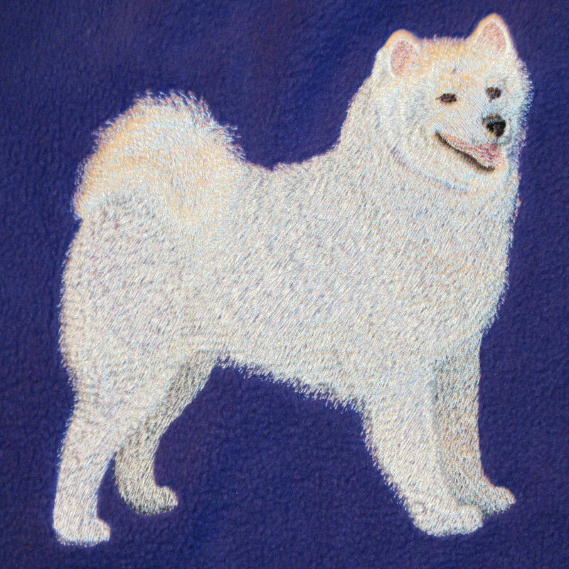 Embroidered Fleece Jacket - Samoyed C5072 Sizes S - XXL