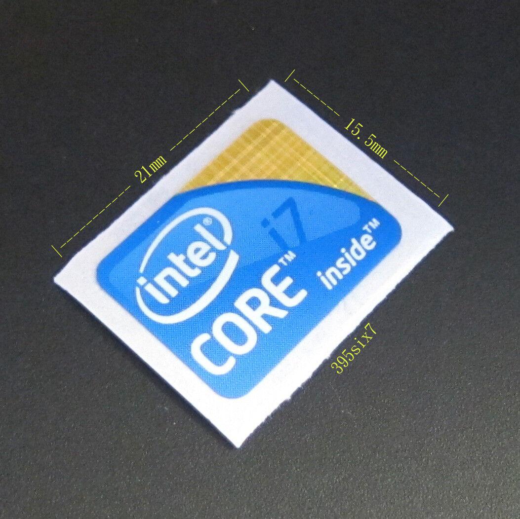 Ivy Bridge Silver Version 10 pcs Intel Core i7 sticker 15.5mm x 21mm