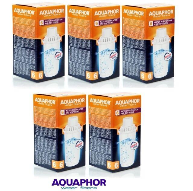 B100-6 AQUAPHOR 5 Replacement Cartridges For Hard Water Areas,Filter Jug Pitcher