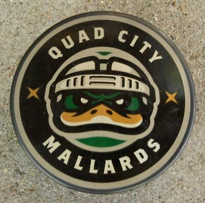 Quad City Mallards CHL Hockey Puck ~ Sher-Wood InGlas Co. ~ ECHL UHL CoHL for sale  USA