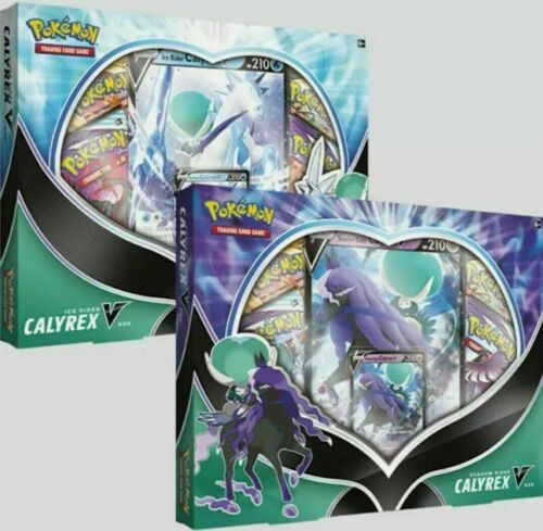 Pokemon Ice Or Shadow Rider Calyrex V Box Factory Sealed 4 Packs