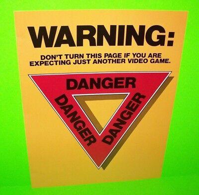 AFTERBURNER Arcade FLYER Original 1987 NOS Video Game Promo Artwork Foldout