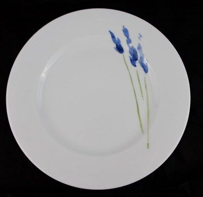 NEW Anna's Artistry China by Crate and Barrel Floral Dinner Plate Blue Flowers