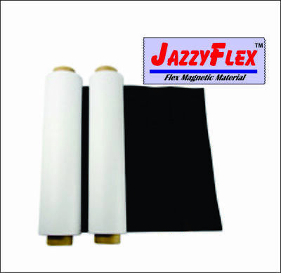 Flex Magnetic Sign Material 24 X 10 X 20 Mil Roll Wwhite Vinyl Laminate