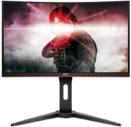 """AOC C24G1 23.6"""" Curved Frameless Gaming Monitor, FHD 1920x10"""