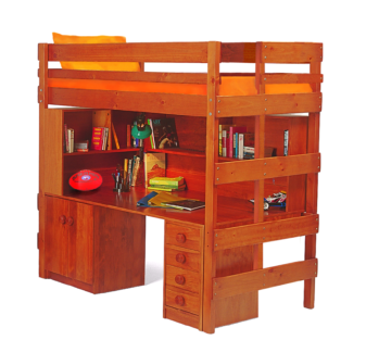bunkers king single loft bed with deskdrawers - Bunkers Loft Bed