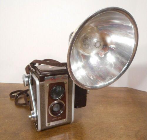 Kodak Duaflex IV Camera Kodet Lens Brown with Strap & Kodalite Flash Holder