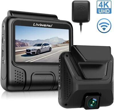 4K Dash Cam Built-in WiFi GPS-LIVINGPAI- Night Vision - Wide Angle - FREE SHIP