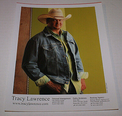 TRACY LAWRENCE RARE 8 X 10 RARE PROMO PHOTO OUT OF PRINT HTF CELEBRITY PHOTO
