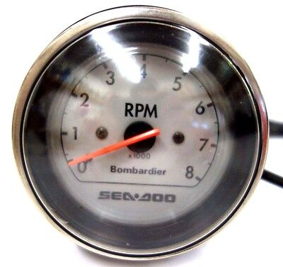 SEADOO OEM PWC Tachometer (RPM) Gauge Assembly (Black) 1998 GTX RFI Model ONLY