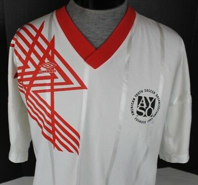 6e280a0e6 VINTAGE UMBRO AYSO AMERICAN YOUTH SOCCER ORGANIZATION V-NECK JERSEY MENS XL   12