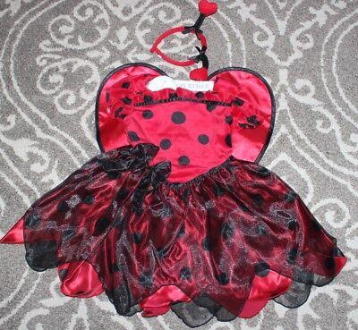 NWT Koala Kids Ladybug LOVE BUG Red Black Girls Halloween Costume Dress size 3T ()