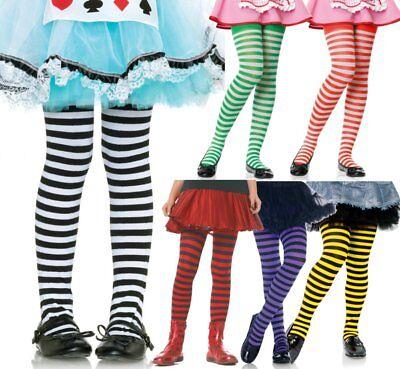 LAG 4710 Leg Avenue Ringelstrumpfhose Kinder Ringel Strumpfhose Karneval - Leg Avenue Kinder Kostüm