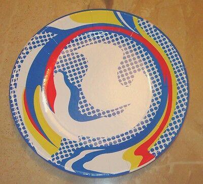 Roy Lichtenstein Paper Plate POP Art Cartoon Comic Haring Warhol
