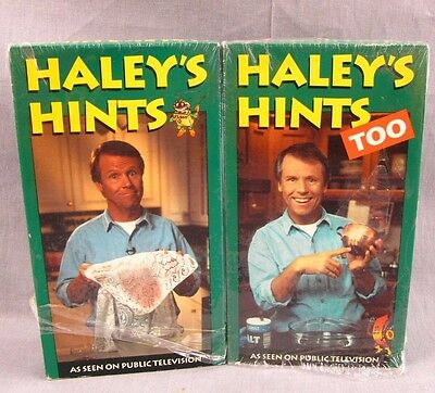 Haley's Hints VHS Video Lot 1-2 PBS Too Money Saving Cleaning Tips Graham Haley